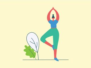 Highbrow Embodied Woman in Yoga pose illustration