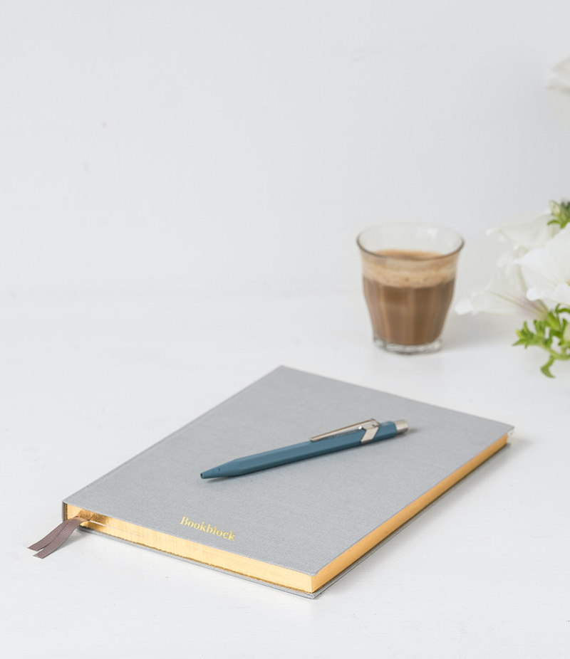journal with flower